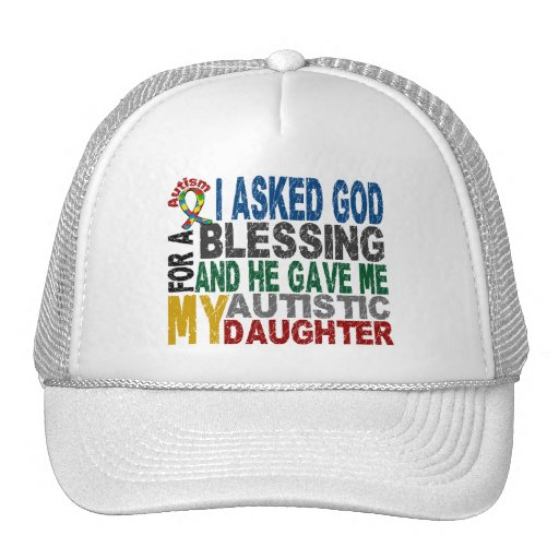 Blessing 5 DAUGHTER Autism T-Shirts & Apparel Hats