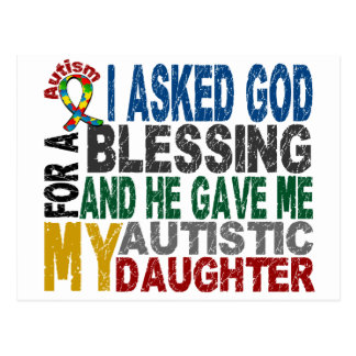 Blessing 5 DAUGHTER Autism T-Shirts & Apparel Postcard
