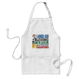 Blessing 5 DAUGHTERS Autism T-Shirts & Apparel Adult Apron