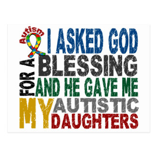 Blessing 5 DAUGHTERS Autism T-Shirts & Apparel Postcard