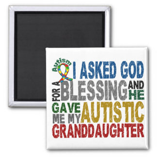 Blessing 5 GRANDDAUGHTER Autism T-Shirts & Apparel 2 Inch Square Magnet