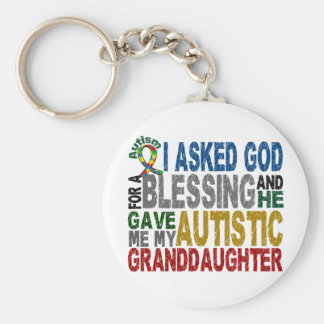 Blessing 5 GRANDDAUGHTER Autism T-Shirts & Apparel Basic Round Button Keychain