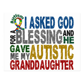 Blessing 5 GRANDDAUGHTER Autism T-Shirts & Apparel Postcard