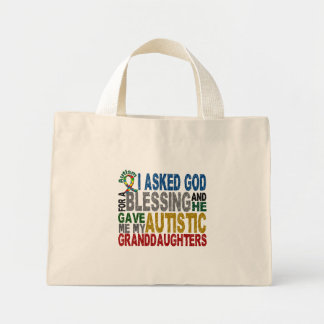 Blessing 5 GRANDDAUGHTERS Autism T-Shirts & Appare Mini Tote Bag