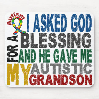 Blessing 5 GRANDSON Autism T-Shirts & Apparel Mouse Pad