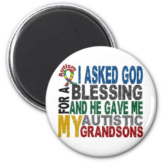 Blessing 5 GRANDSONS Autism T-Shirts & Apparel Magnet