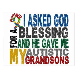Blessing 5 GRANDSONS Autism T-Shirts & Apparel Postcard