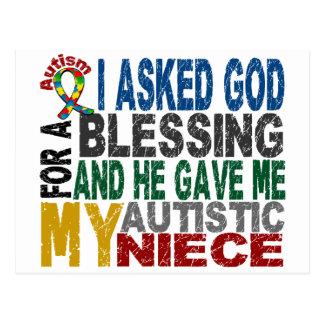 Blessing 5 NIECE Autism T-Shirts & Apparel Postcard