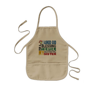 Blessing 5 SISTER Autism T-Shirts & Apparel Apron