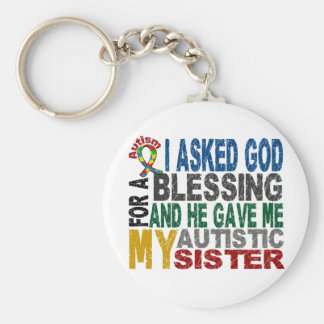 Blessing 5 SISTER Autism T-Shirts & Apparel Basic Round Button Keychain