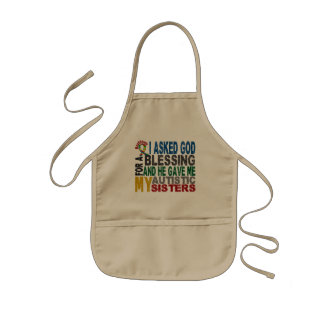 Blessing 5 SISTERS Autism T-Shirts & Apparel Aprons