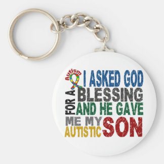Blessing 5 SON Autism T-Shirts & Apparel Basic Round Button Keychain