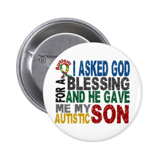 Blessing 5 SON Autism T-Shirts & Apparel Button
