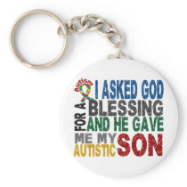 Blessing 5 SON Autism T-Shirts & Apparel Keychain