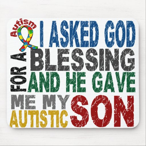 Blessing 5 SON Autism T-Shirts & Apparel Mouse Mat