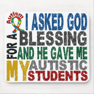 Blessing 5 STUDENTS Autism T-Shirts & Apparel Mouse Pad