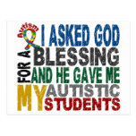Blessing 5 STUDENTS Autism T-Shirts & Apparel Postcards