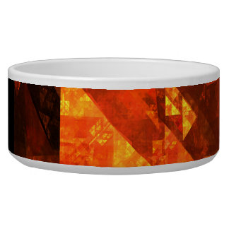 Blessing Abstract Art Dog Bowl