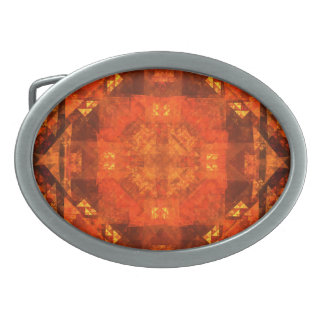 Blessing Abstract Art Oval Belt Buckle