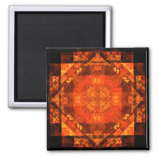 Blessing Abstract Art Square Magnet