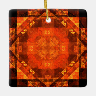 Blessing Abstract Art Square Ornament