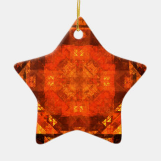 Blessing Abstract Art Star Ornament