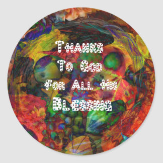 Blessing and happy Thanksgiving Classic Round Sticker