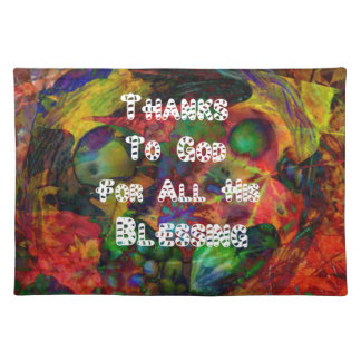 Blessing and happy Thanksgiving Cloth Placemat