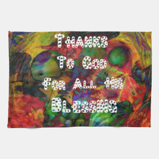Blessing and happy Thanksgiving Hand Towel