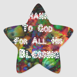 Blessing and happy Thanksgiving Star Sticker