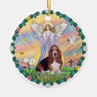 Blessing - Basset Hound 1 Ceramic Ornament