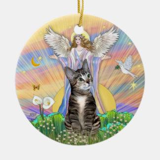 Blessing - BrownTabby Cat 2 Ceramic Ornament