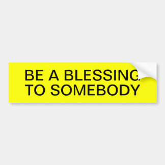 BLESSING BUMPER STICKERS