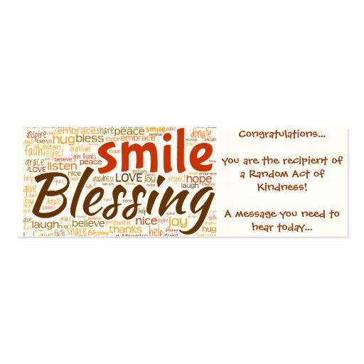 random act of kindness business card templates bizcardstudio