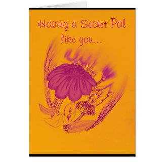 Blessing flower greeting card