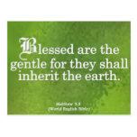 Blessing for Gentleness Matthew 5:5 Post Cards