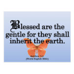 Blessing for Gentleness Matthew 5:5 Postcard