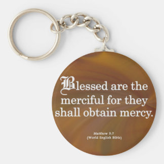 Blessing for Mercy Matthew 5-7 Keychain