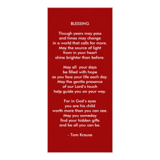 Blessing for Teens Customized Rack Card