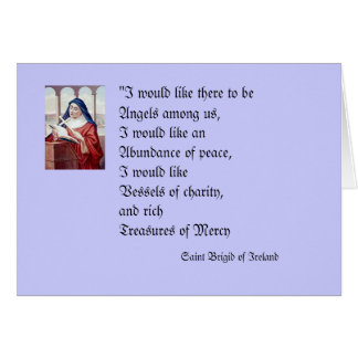 Blessing From Saint Brigid Card