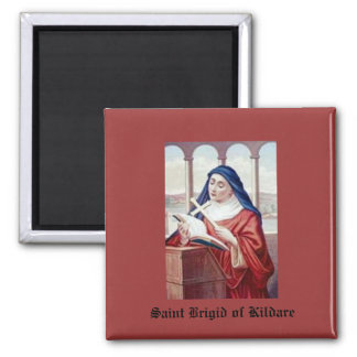 Blessing From Saint Brigid 2 Inch Square Magnet