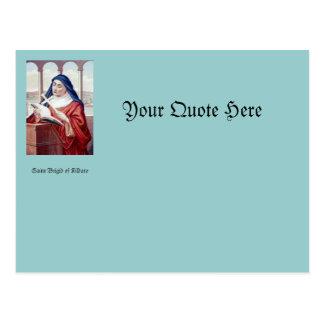 Blessing From Saint Brigid Postcard