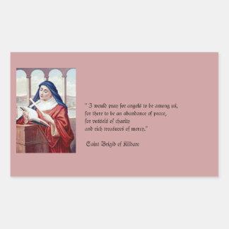 Blessing From Saint Brigid Rectangular Sticker