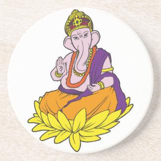 Blessing Ganesha Sandstone Coaster