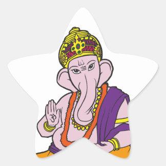 Blessing Ganesha Star Sticker