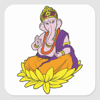 Blessing Ganesha Stickers