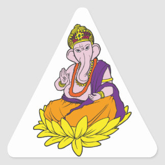 Blessing Ganesha Triangle Sticker