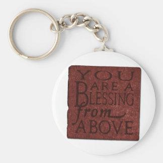 Blessing Basic Round Button Keychain