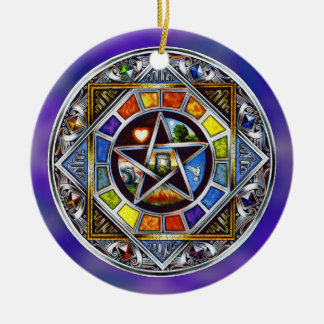 Blessing of Elements Round Ornament