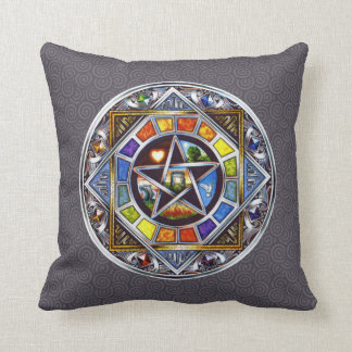 Blessing of Elements Throw Pillow